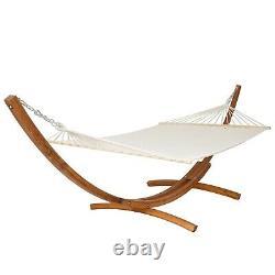 XXL Pine Wooden Double Hammock Patio Outdoor Bed Sun Garden Lounger Furniture